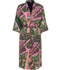 flowerwhirl kimono dress kimonos multi/patroon becksöndergaard