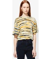 proenza schouler tie dye short sleeve t-shirt yellow/black xs