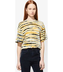 proenza schouler tie dye short sleeve t-shirt yellow/black s