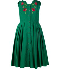 a.n.g.e.l.o. vintage cult 1970s flower patch strapless dress - green
