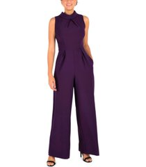 julia jordan straight-leg jumpsuit