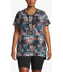 lane bryant women's active floral high-low hoodie 22/24 floral clusters
