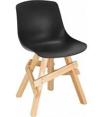 krzesło madera boho czarne