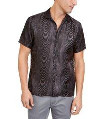 inc men's onyx sheer oil slick shirt, created for macy's