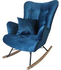 fotel skandynawski bujany fuego ciemno niebieski