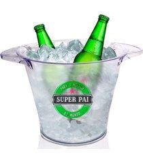 balde de gelo personalizado para dia dos pais super pai