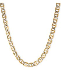 """italian gold mariner link 24"""" chain necklace in 14k gold"""