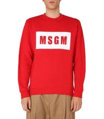 msgm crew neck sweatshirt