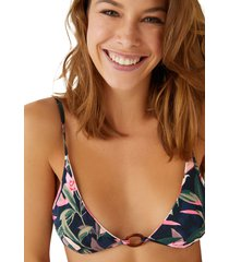 top bikini halter reversible floral multicolor women secret 5985927 copa-b9895