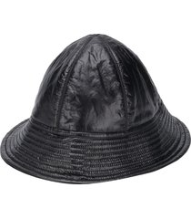 rick owens drkshdw textured upturned brim hat - black