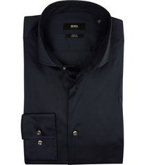 hugo boss overhemd navy slim fit