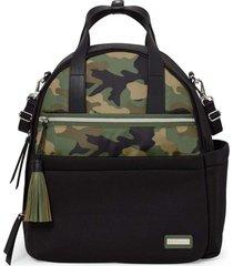 bolsa maternidade skip hop - coleção nolita neoprene - backpack mochila black/ camo skip hop
