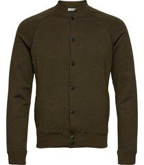 slhshayne bomber sweat jacket w bomberjack jack groen selected homme