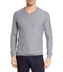 men's bugatchi microstripe v-neck sweater