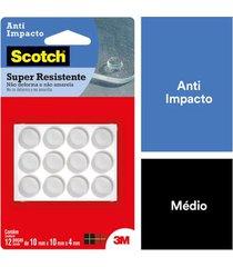 anti-impacto 3m redondo m com 12 peças 0,6x9,6x16,8cm
