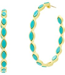women's freida rothman color theory marquese hoop earrings