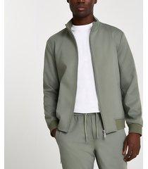 river island mens khaki funnel neck jacket