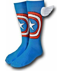 captain america crew socks with wings new men's hosiery size 10-13 marvel
