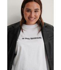 na-kd ekologisk je suis feminist t-shirt - white