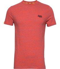 ol vintage emb crew t-shirts short-sleeved röd superdry
