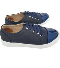 zapatos casuales mujer azul oscuro