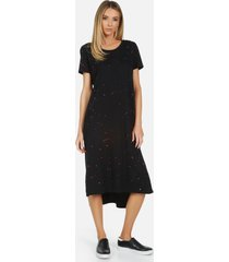 augustus le pink splatter dress - black/pink splatter l