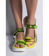 akira cape robbin risky business glitter sequin flat sandal