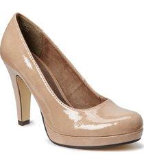 woms court shoe shoes heels pumps classic grå tamaris