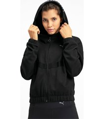 hit feel it knitted trainingssweatjack voor dames, zwart, maat xs   puma