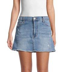 hudson women's vivid denim mini skirt - havana - size 28 (4-6)