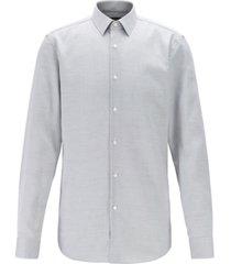 boss men's isko slim-fit stain-resistant swiss cotton shirt