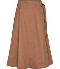 cargo hw midi skirt knälång kjol brun soft rebels