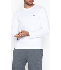 lacoste t-shirt ras du cou manc tröjor white