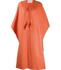 valentino tassel-trimmed coat - orange