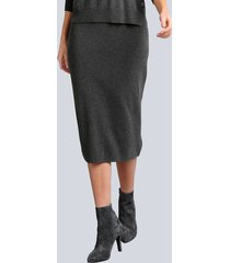 gebreide rok alba moda grijs