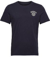 cowper tee t-shirts short-sleeved blå morris