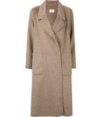 onefifteen fine knit coat - brown