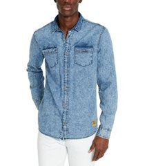 buffalo david bitton men's slim-fit sigoul denim shirt