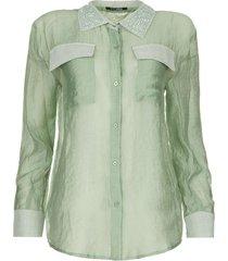 blouse met kralen mornella  groen