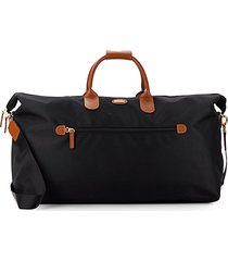 "22"" leather-trim carry-on duffel bag"