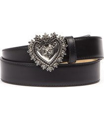 dolce & gabbana black leather belt