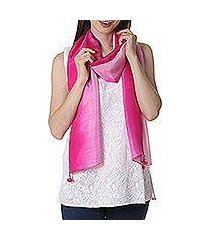 silk scarf, 'fuchsia glamour' (india)