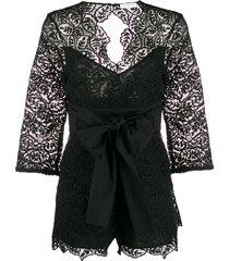 sandro paris florane playsuit - black