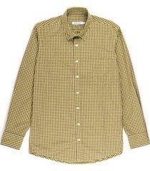 camisa casual manga larga a cuadros regular fit para hombre 93045