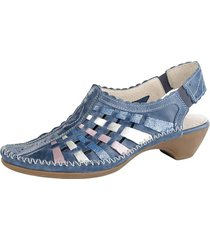 skor med hälrem naturläufer blå
