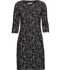 frfivam 1 dress knälång klänning svart fransa