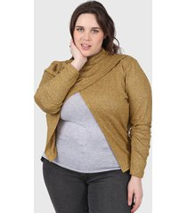 sweater mostaza minari nicole plus size