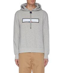 'maglia' reflective bar logo hoodie