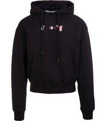 off-white man black acrylic arrows printed hoodie