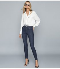 reiss skye - bi-stretch high rise skinny jeans in indigo, womens, size 32